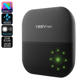 TV BOX T95V android 7.1 с осем ядрен  WI-fi  HDR 4k и 2 GB RAM